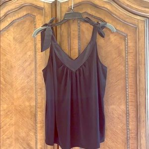 BR Black Tie Shoulder Flowy Tank